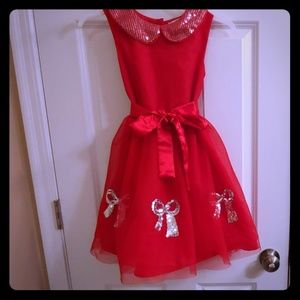 Sophia and Rosie Red sequin dress